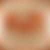 Bracelet lorea orange en dentelle frivolité