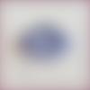 Boucles d'oreilles créoles en dentelle frivolité nahia bleu pervenche