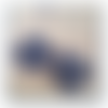 Boucles d'oreilles en dentelle frivolité ana, bleu marine