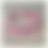 Bracelet eguzkia rose fuchsia en dentelle frivolité et tissage miyuki