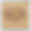 Bracelet haize marron en dentelle frivolité et perles de rocailles