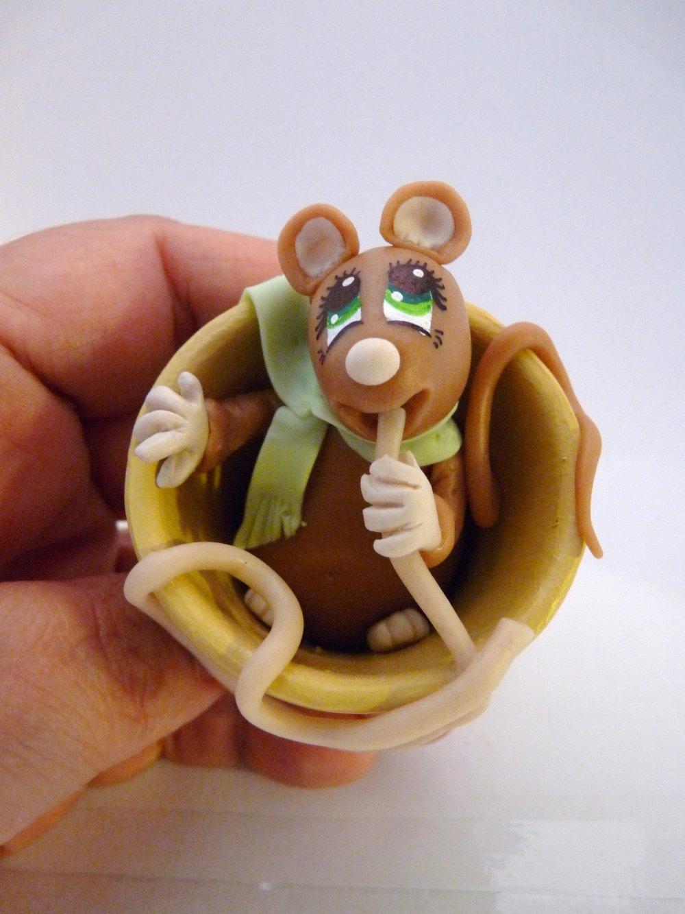 Animaux - Petit Rat au spaghetti
