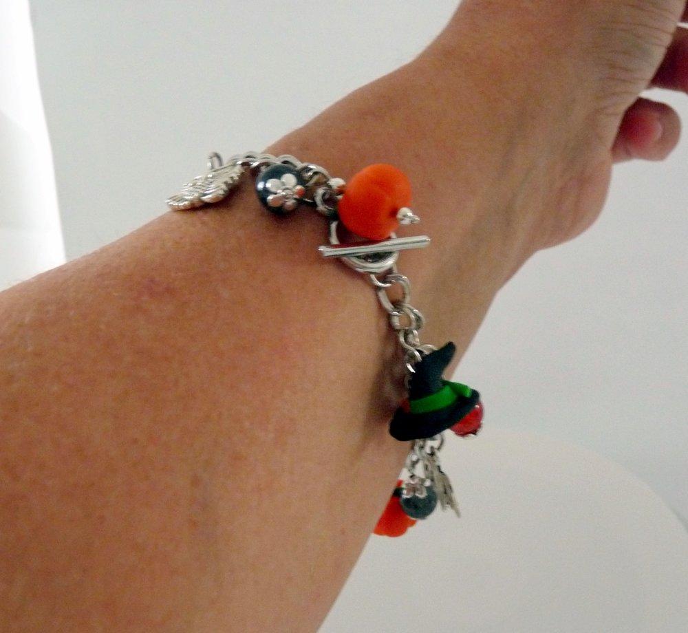 Halloween - Bracelet Citrouille Chapeau de Sorcière