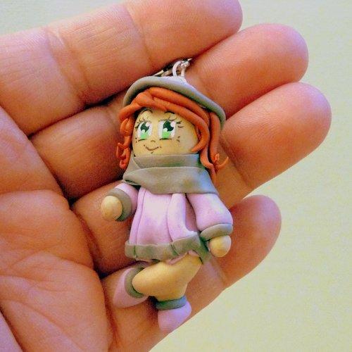Fille - figurine poupette coquette