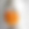 Masque en soie peint main mandarine