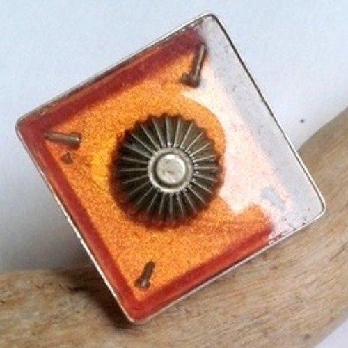 Bague steampunk artisanale mécanismes de montres