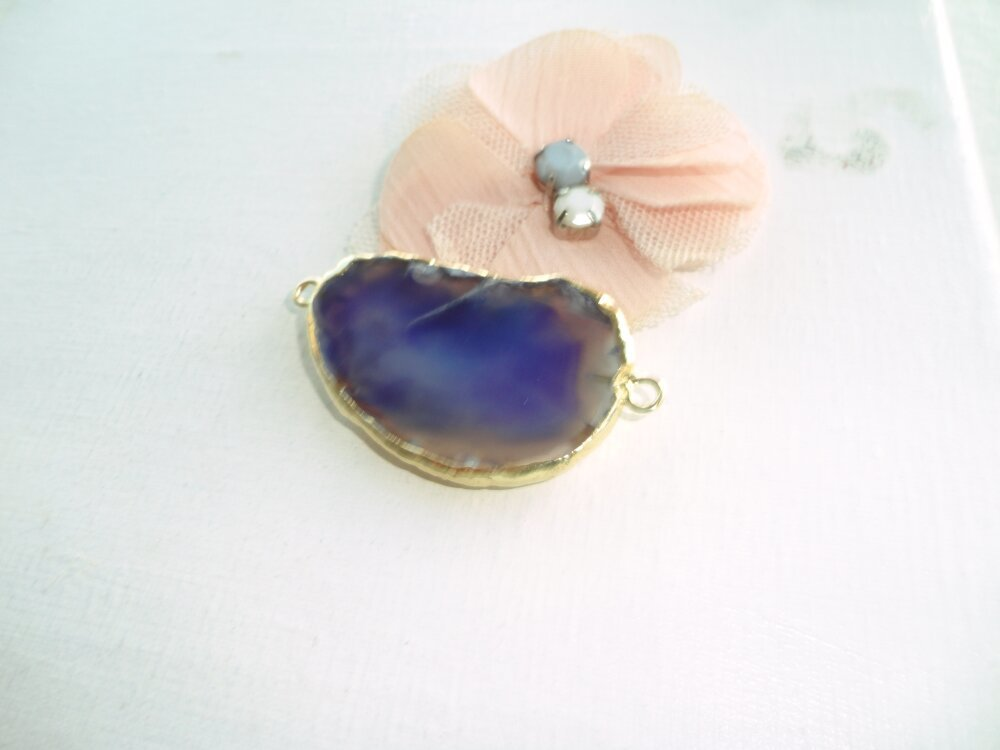 pierre agate bleu