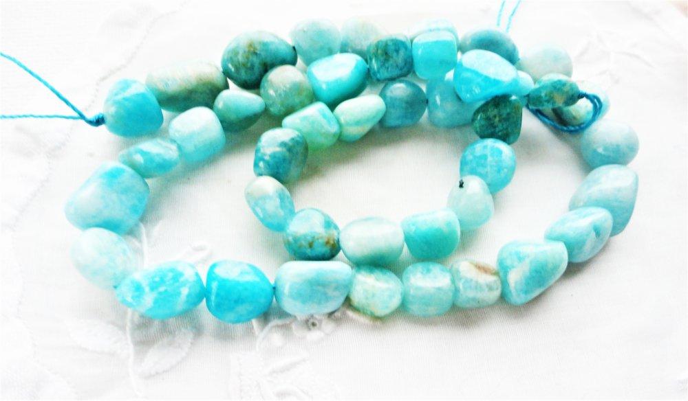 perle d'amazonite naturelle, pierre turquoise,gemme bleu, bleu,turquoise, nugget