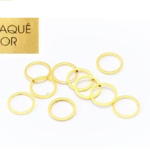 Anneau brise doré, plaqué or, 18 kc,anneau rond, 5 mm x 20