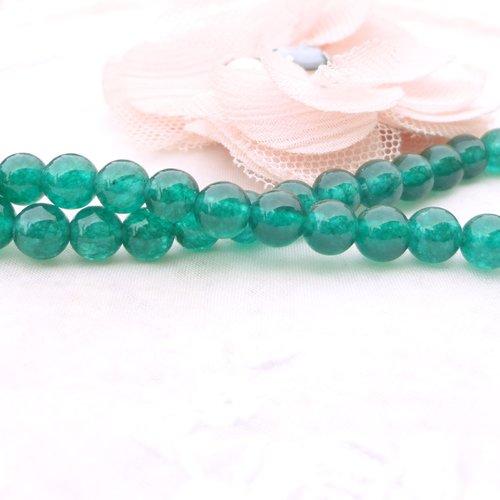 Perle de jade vert foncé, jade ronde, perle ronde , 6 mm, gemme, pierre, naturelle