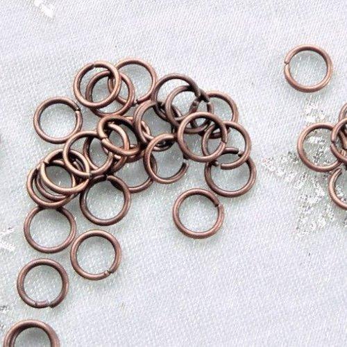LOT de 500 ANNEAUX de jonction CONNECTEURS 4mm MIX 5 COULEURS perles bijoux