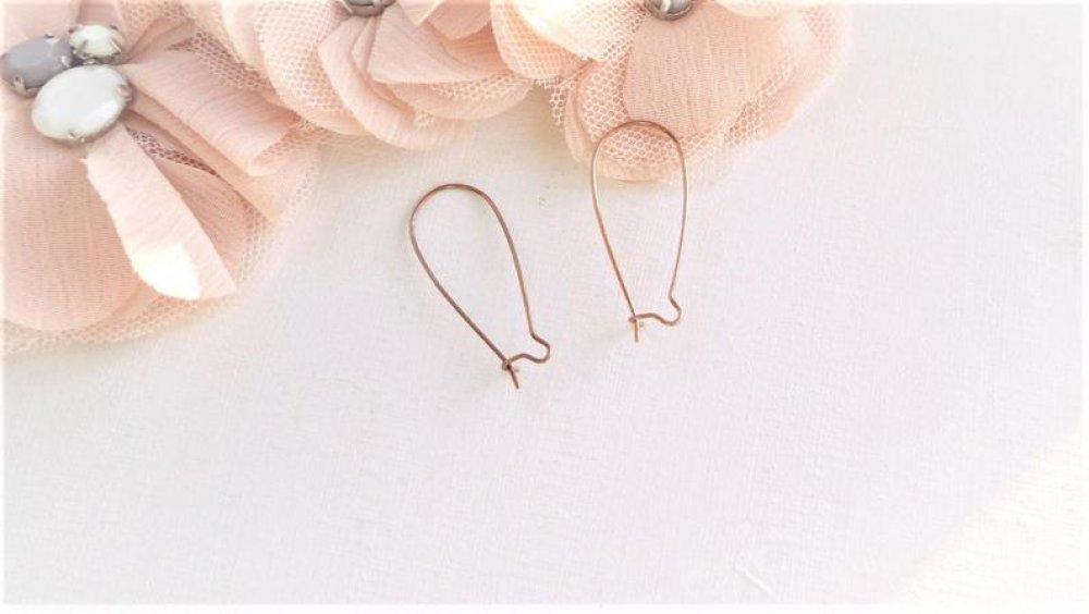 crochet boucle oreille, cuivre rouge, fermoirs oreille, bijoux, fantaisie, femme