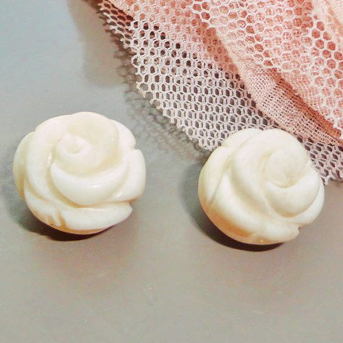 Perle fleur blanche, corail naturel, fleur corail, perle, naturelle, ivoire