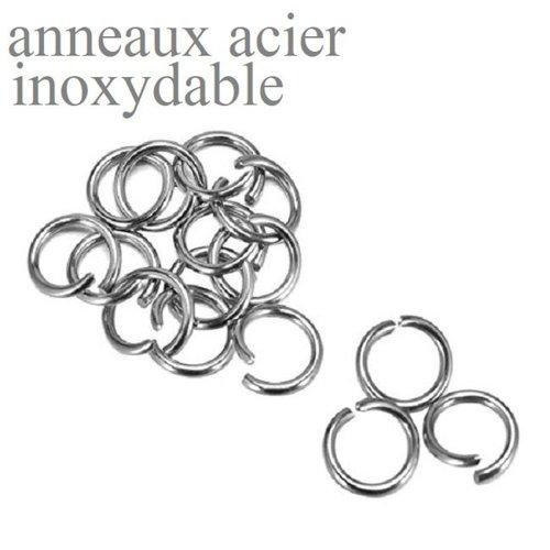 Anneaux  en acier inoxydable , anneau rond, brisé, inox,  3 mm