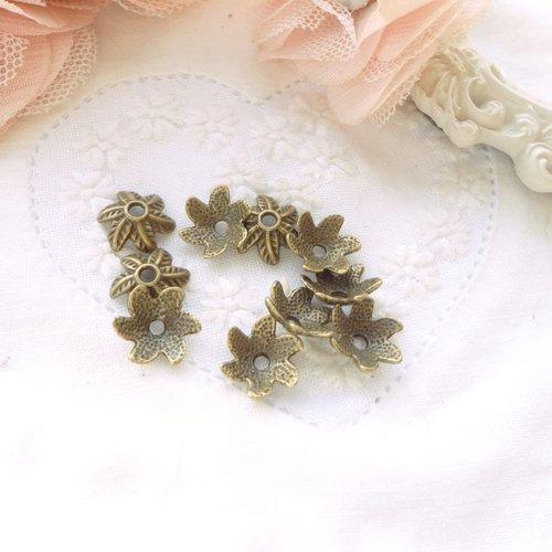 Coupelle perle bronze, calotte perle, finition bijoux, embout, apprêts, bijoux