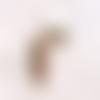 Perle métal ovale, connecteur ovale, plaqué or, 18 kc, or rose,