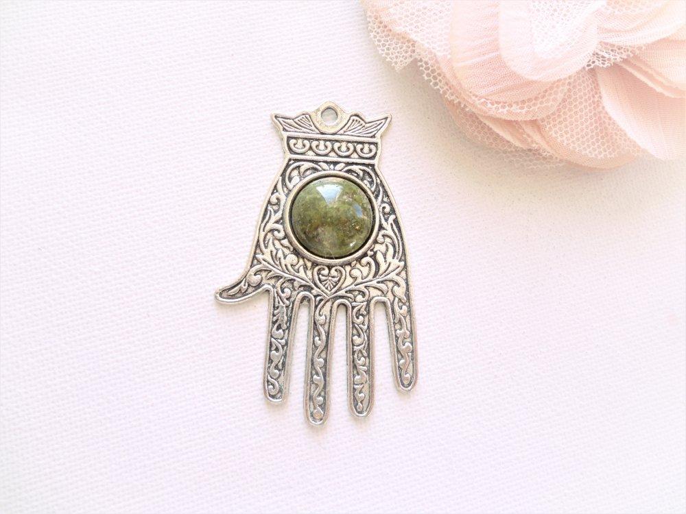 pendentif main fatma, main hamsa, bijoux religieux, ethnique