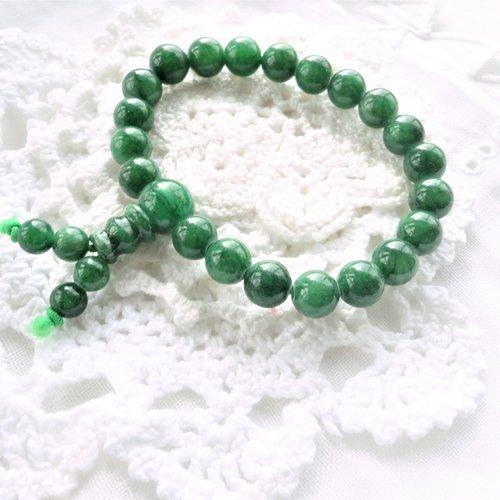 Perle jade vert, bracelet ethnique, bracelet ,perle jade ronde