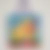 Tableau d'éveil et d'activité pour bébé - tableau de décoration en polaire et tissu pour chambre de bébé 30x30 cm