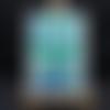 Carte envolée de papillons sur fond vert bleu turquoise