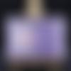 Carte avec panneau qui coulisse sur fond vichy violet
