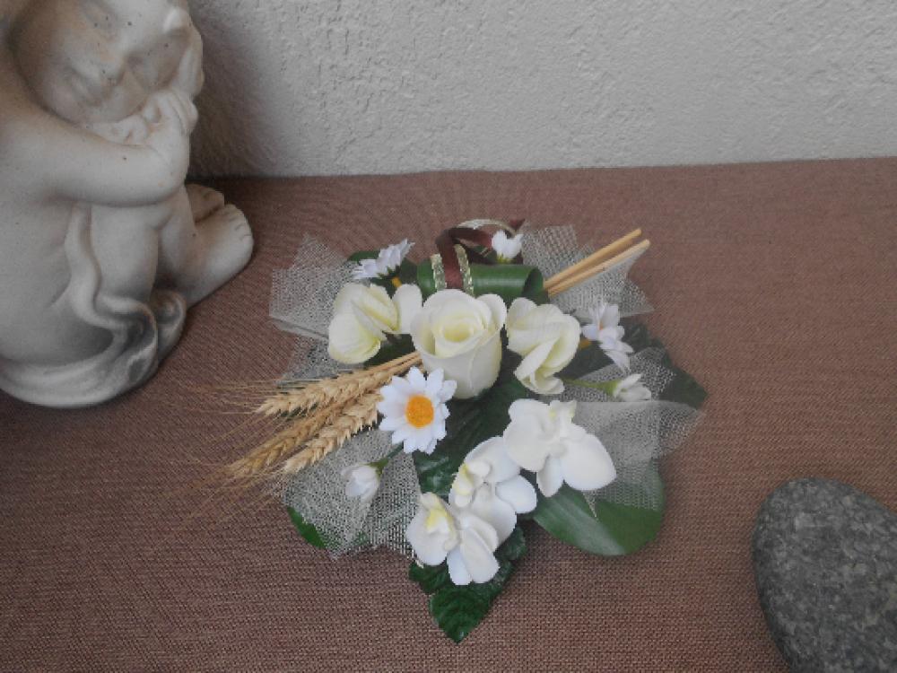 Centre de table champêtre - décoration de table champêtre en fleurs artificielles - 20cm