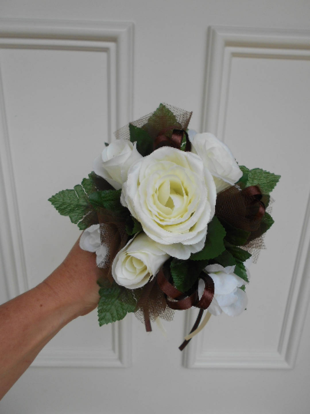 Bouquet de demoiselle d'honneur - ivoire et chocolat