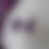 Coiffure pour mariée - violet parme et argenté - poids de senteur