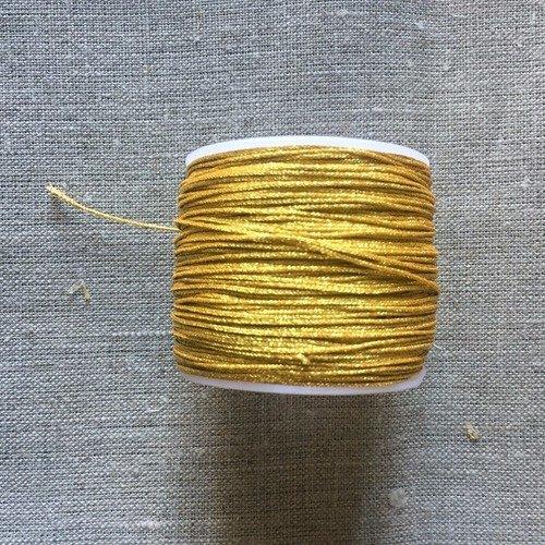 2 m cordon métallisé doré diamètre 1 mm