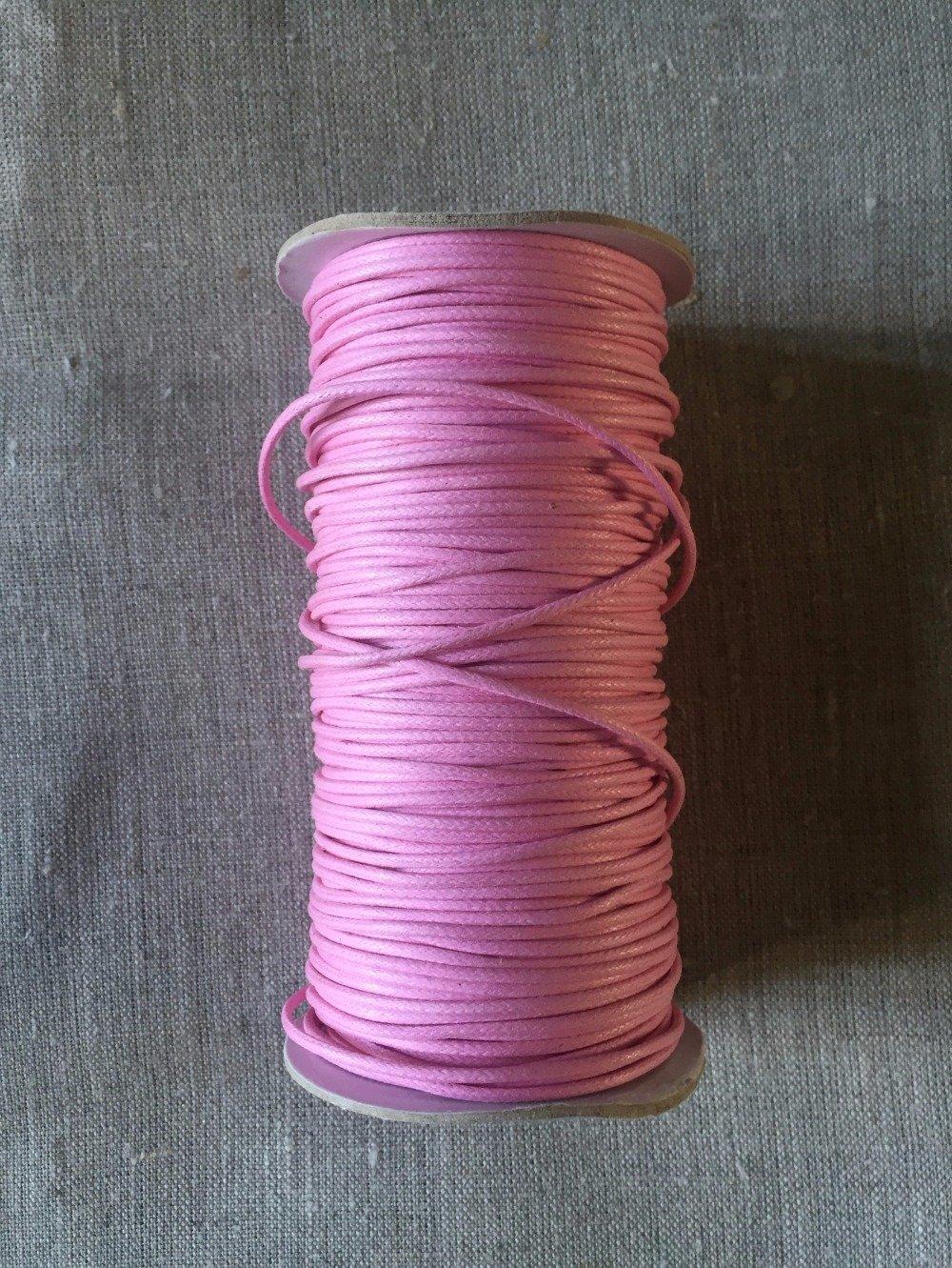 2 m Cordon de coton ciré diamètre 2 mm