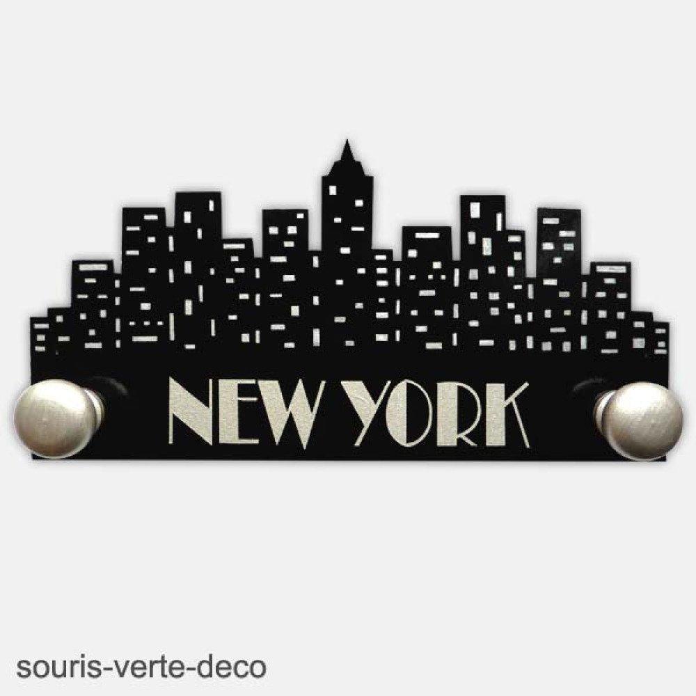 Plaque de porte new york avec pr/énom fille enfant d/éco skyline new york pr/énom coloris personnalisables gar/çon deco new york city d/éco chambre new york d/éco chambre ado