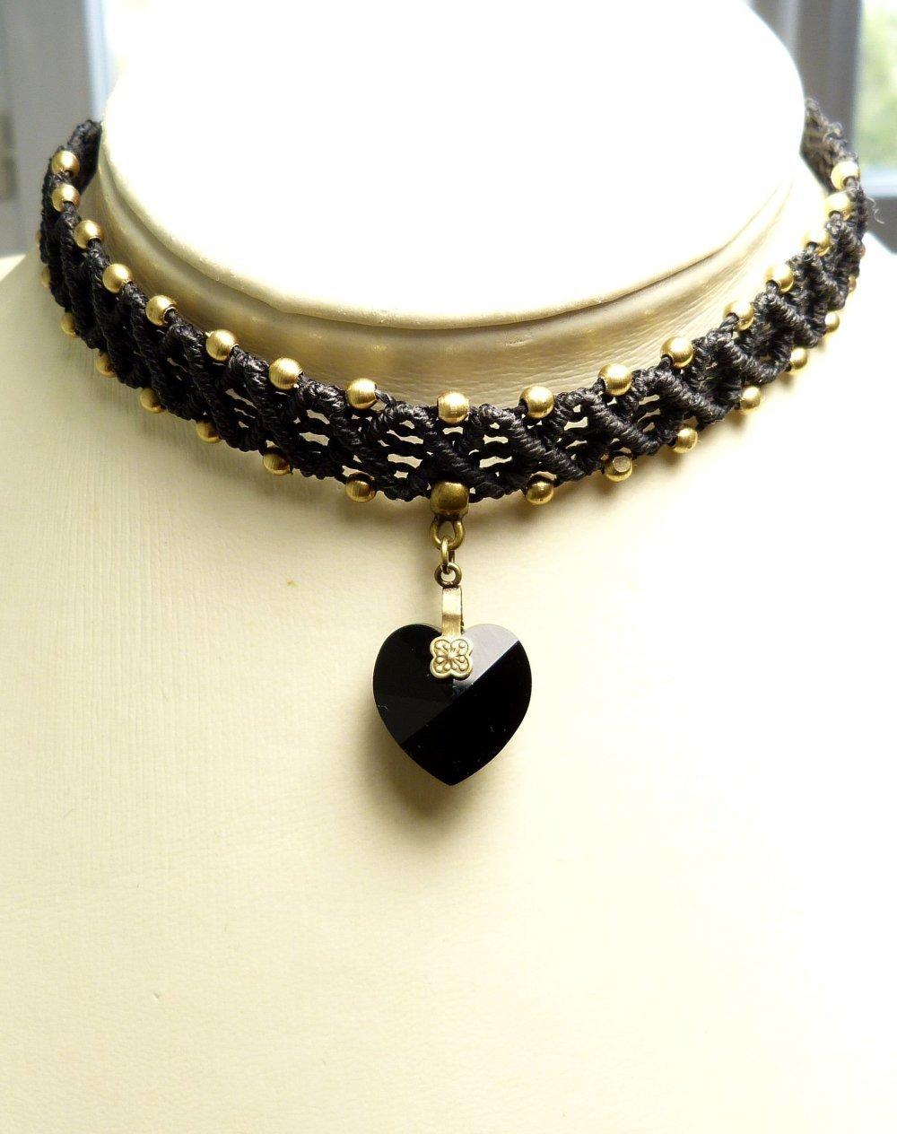 collier choker noir