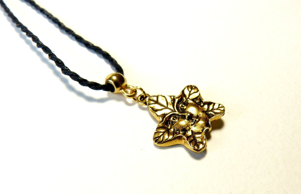 collier or homme pendentif