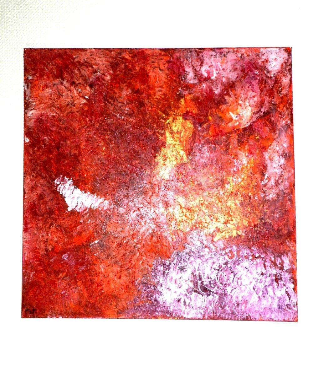 """Tableau """" Chantilly """", toile sur châssis 100 cm x 100 cm"""