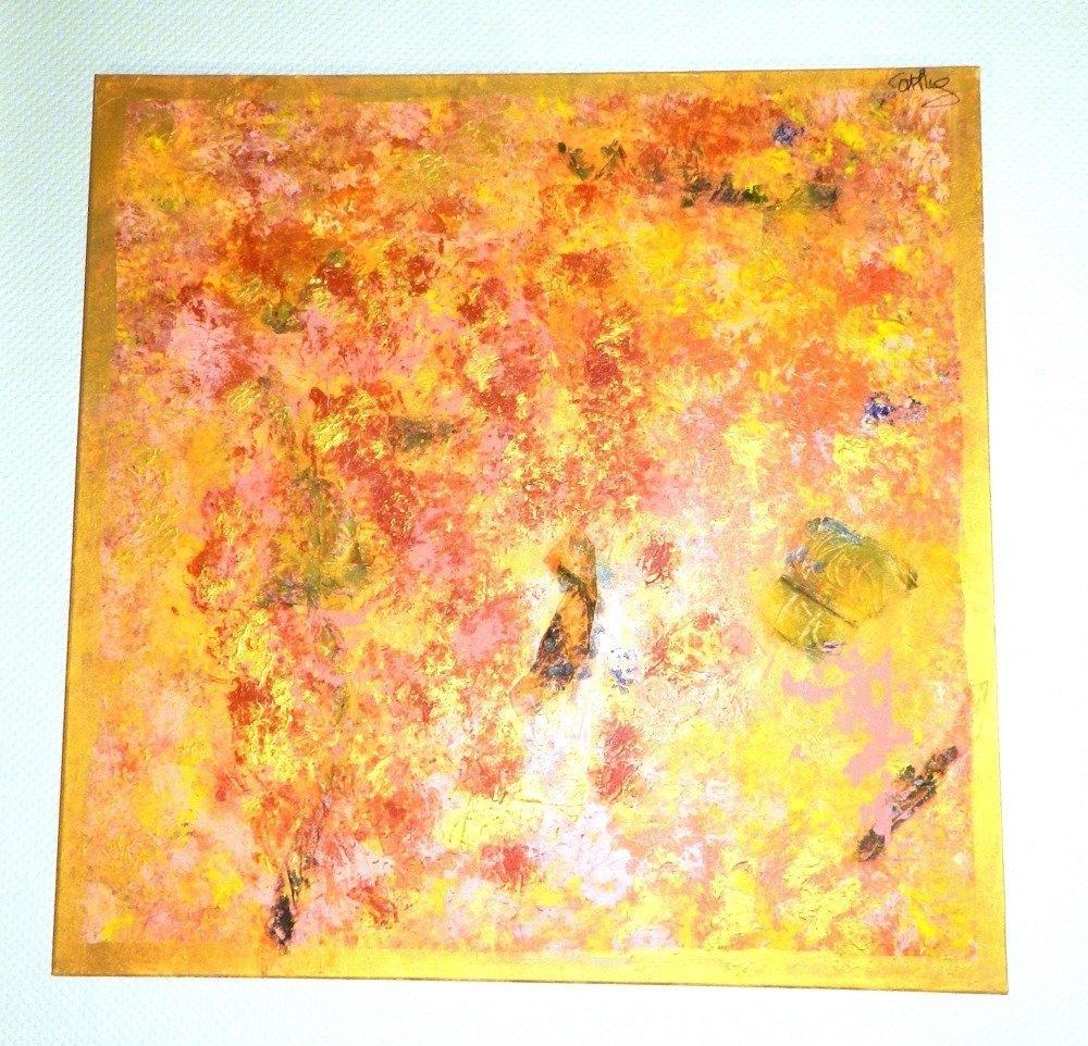 """Tableau """" Eden """", toile sur châssis 100 cm x 100 cm"""