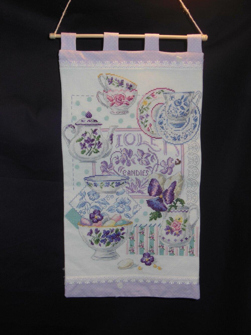 """Panneau mural """"Bouquet de violettes"""""""