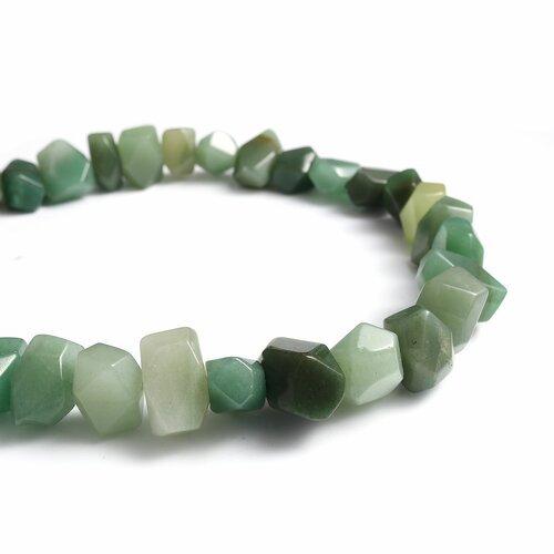 25 perles en aventurine irrégulière vert -environ 20mm- création bijoux - sc0118093