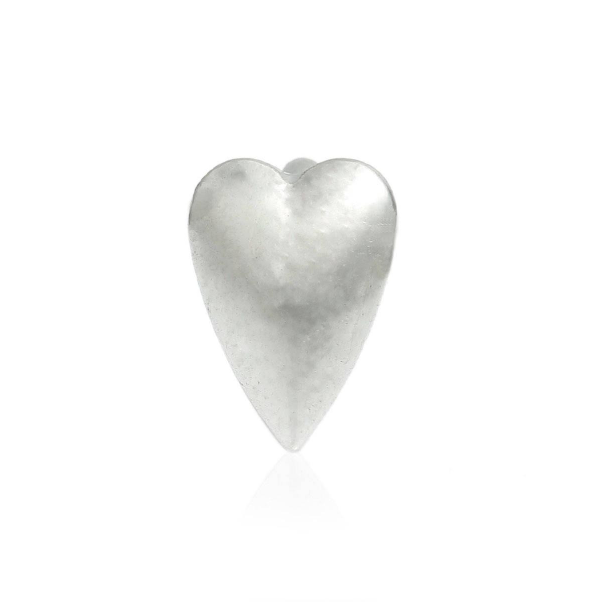 1 Perle Passant Argenté Coeur pour cordon 5-6 mm - SC76515- Création bijoux