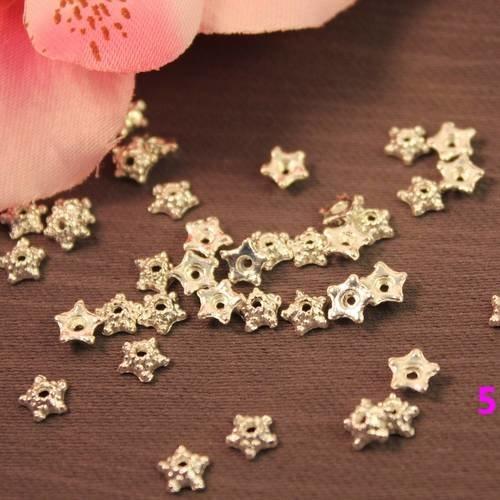 1600 coupelles 5mm argentées pour perles