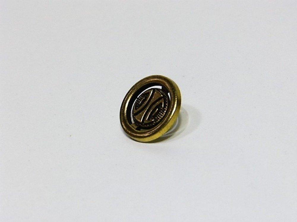 Bouton métal or 18 mm