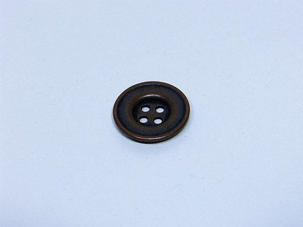 Bouton métal cuivre 18 mm