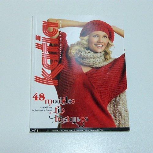 Catalogue tricot katia n°5 , 48 modèles fils basiques