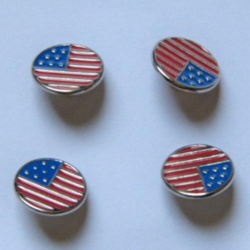 4 boutons métal américain