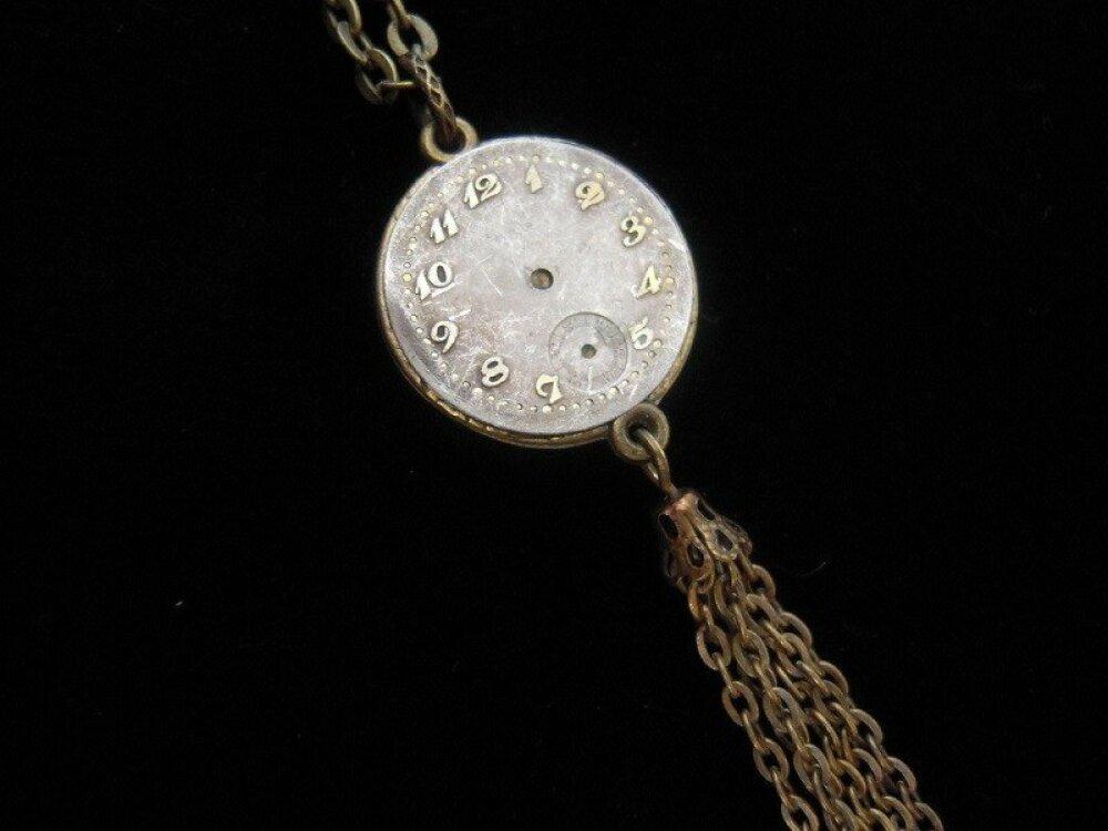 COLLIER lune sur mécanisme de montre réversible, A410