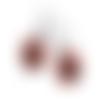 Boucles d'oreilles image chat,humour chat noir ,chapeau blanc, 17