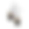 Boucles d'oreilles  chat noir shabby  couronne fleurs, 12