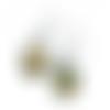 Boucles d'oreilles dissociées biche et son faon, dessins non libre de droit