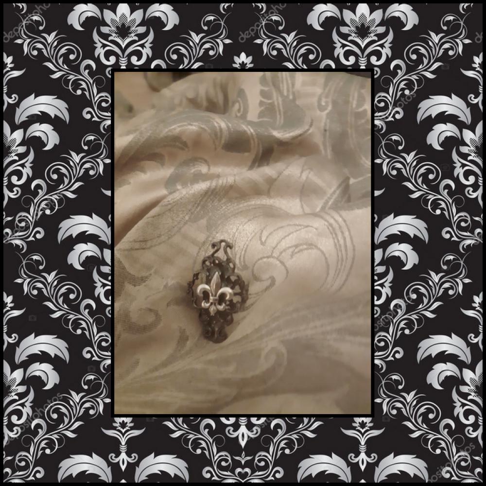 Bague Unique Dark Gothique Fleur de Lys Victorien Médiéval Vintage Ethnique Punk Réglable Royal Halloween Symbole Wicca