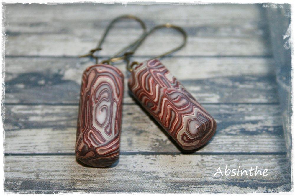 - Boucles d'oreilles percées - Collection Ethnique Chic -