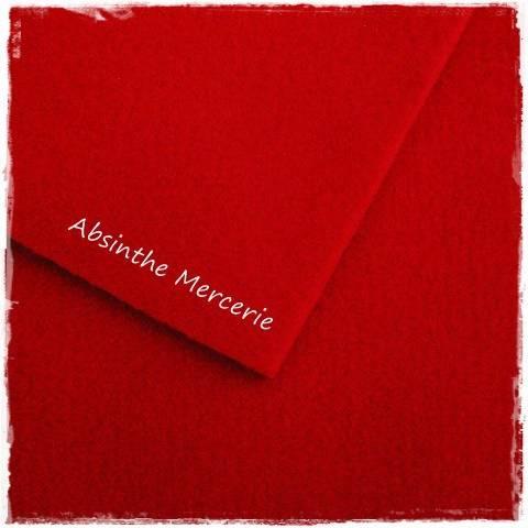 - Feutrine - Couleur Rouge - 30.5X22.9cm - coupon à l'unité -
